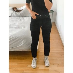 Reformation Julia Crop High Cigarette Jean BLK 24